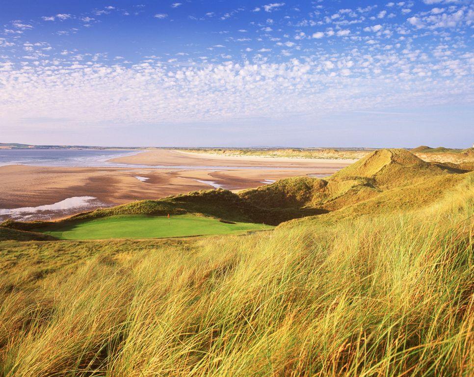 Green , dunes et plage sur le parcours de Tralee