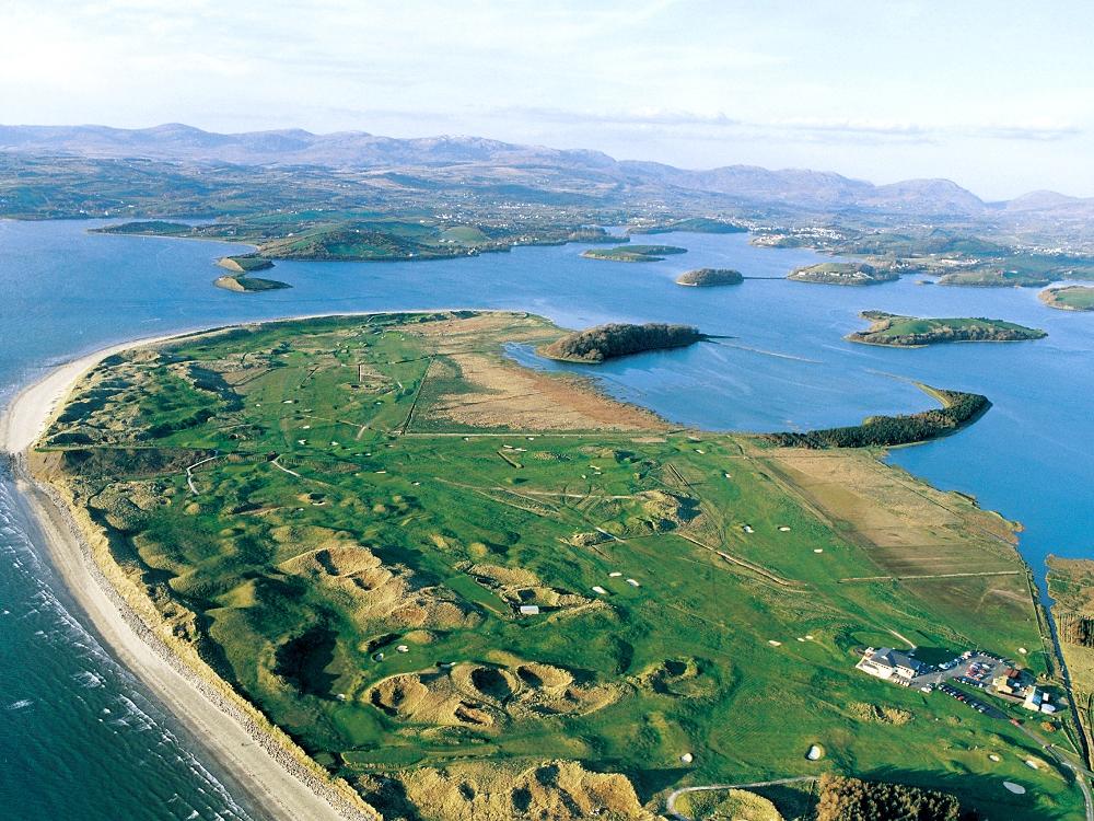 Vue aerienne sur le parcours de Donegal