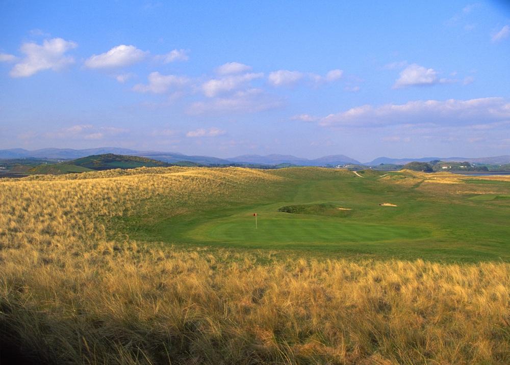 Green et dunes sur le parcours de Donegal