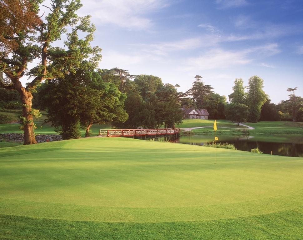 Large green sur le parcours de Carton House (O'Meara)