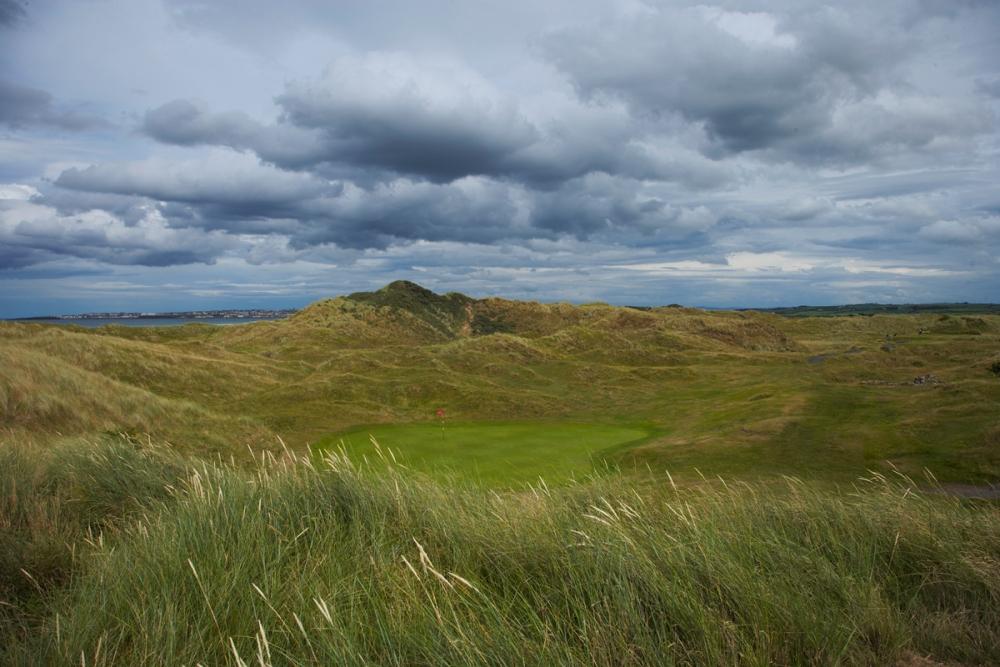 Green dans les dunes sur le parcours de Castlerock