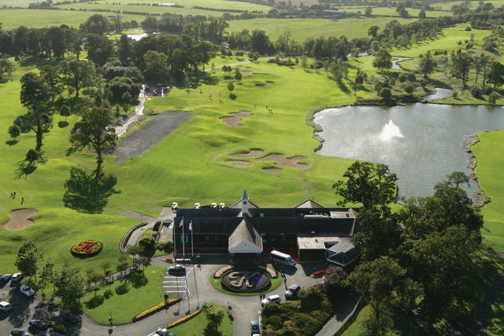 Vue aérienne sur le parcours du K Club (Palmer Ryder Cup)