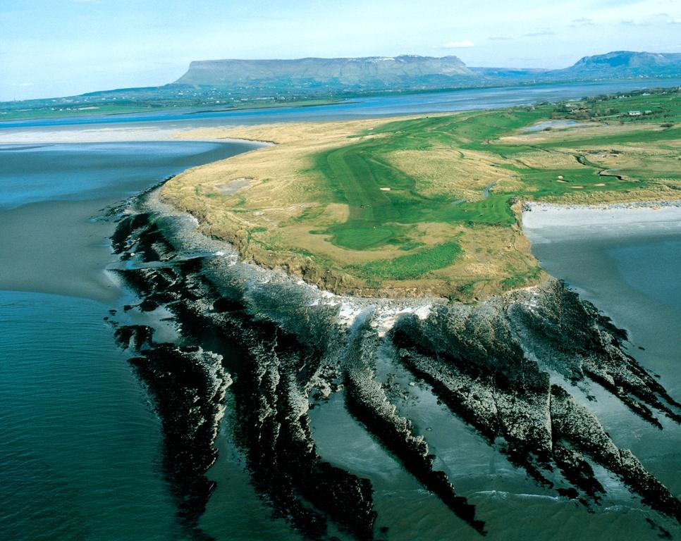 Vue aérienne sur le parcours de County Sligo