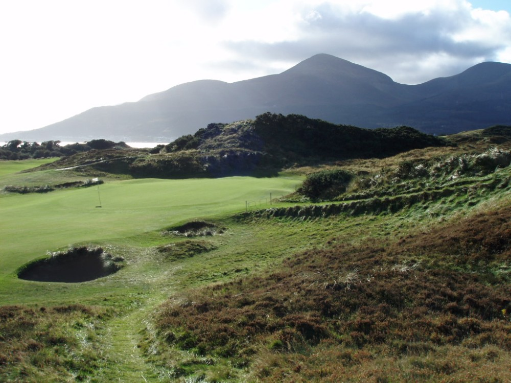 Green sur le parcours de Royal County Down