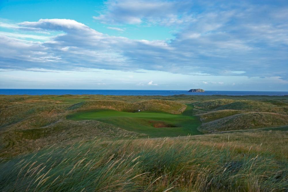 Green, dunes et mer sur le parcours de Ballyliffin (Glashedy)