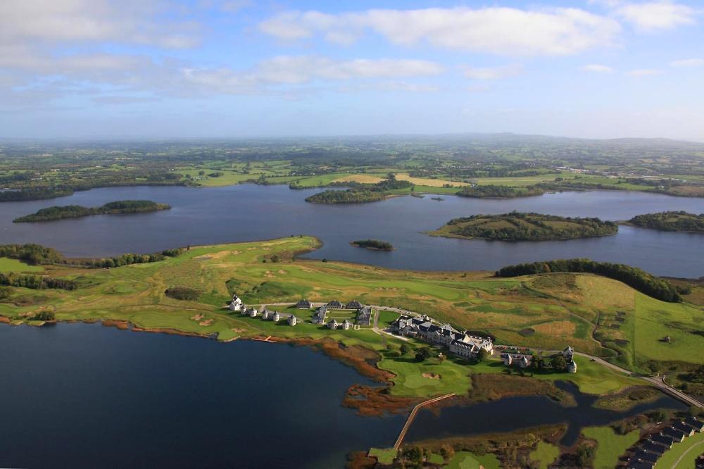 Vue aérienne sur le parcours de Lough Erne