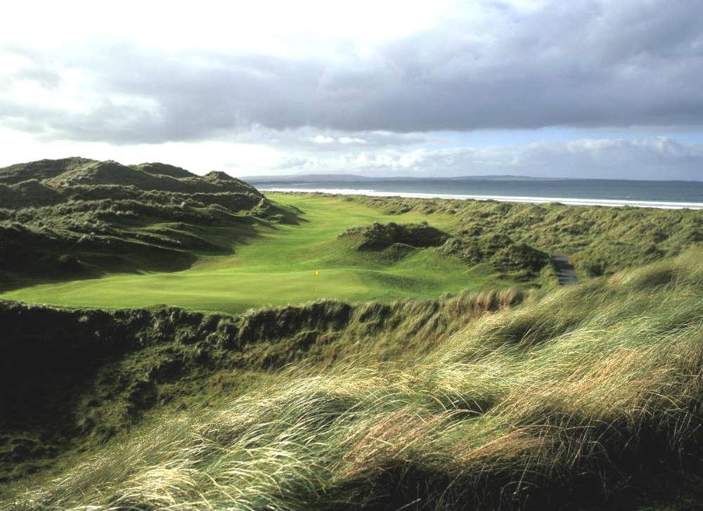 Trou n°16 du parcours de golf Enniscrone en Irlande