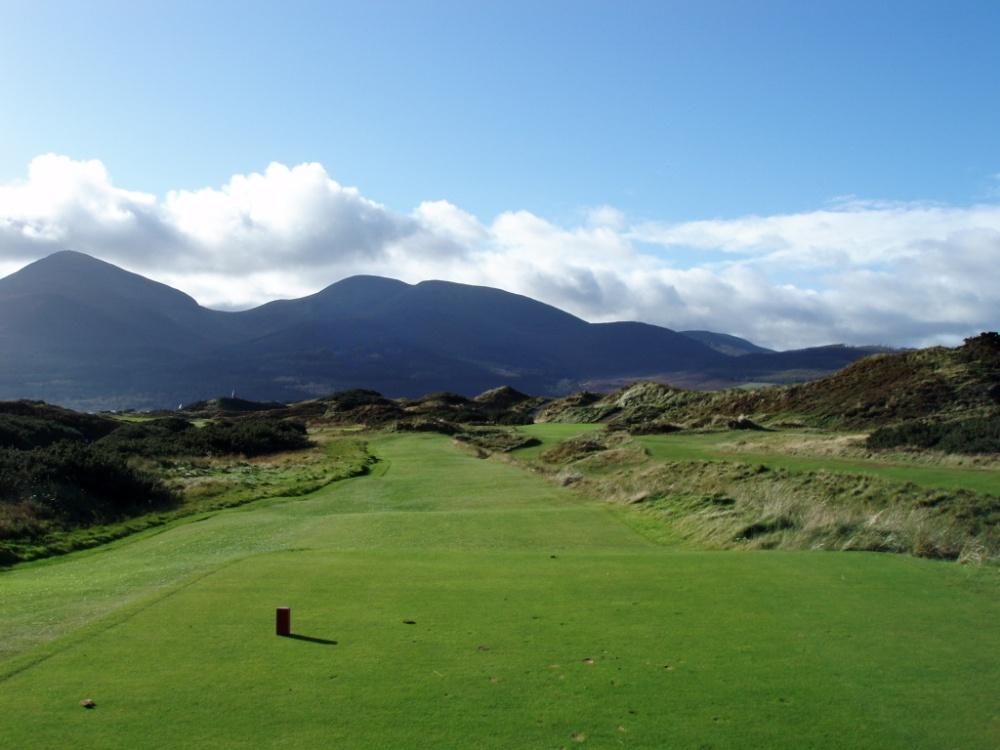 Départ sur le parcours de Royal County Down