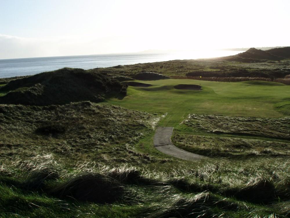 Green, dunes et mer sur le parcours The European Club