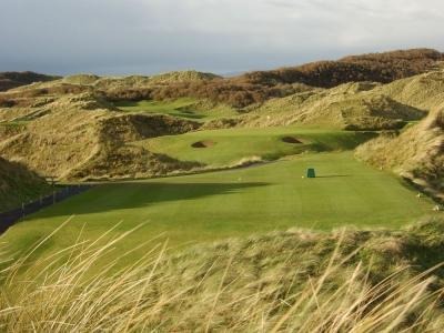 Trou n°6 du parcours Strand au club de golf de Portstewart en Irlande du Nord