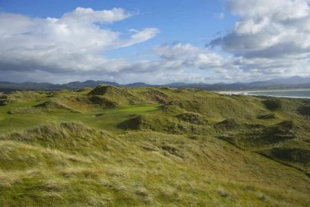 Dunes du golf de Sandy Hills à Rosapenna en Irlande