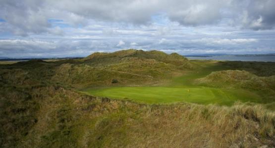 Dunes du parcours de golf Enniscrone en Irlande