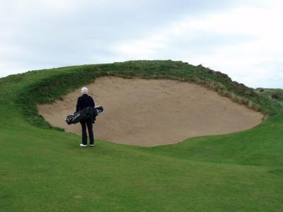 Golfeur sur le parcours de Royal Portrush