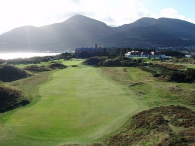 Fairway sur le parcours de Royal County Down