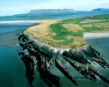 Vue aérienne du parcours de County Sligo