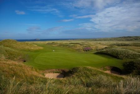 Green et dunes sur le parcours de Ballyliffin (Glashedy)