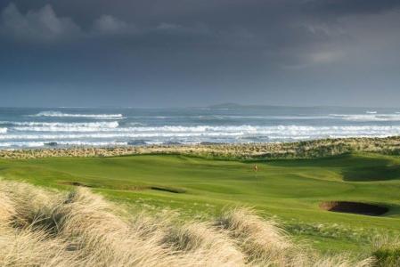 Plage sur le golf de Strandhill en Irlande