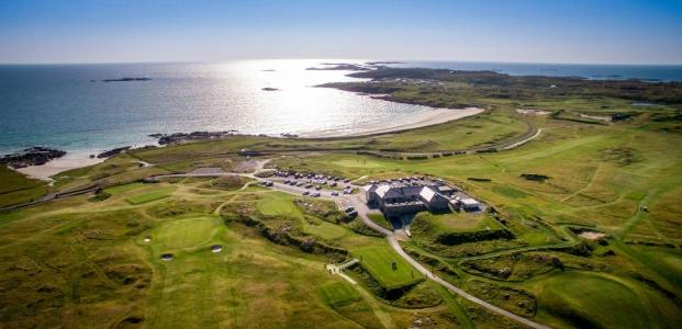 Clubhouse du golf de Connemara en Irlande