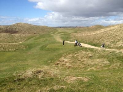 Golfeurs sur le parcours de The Island