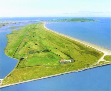 Vue aérienne du parcours Royal Dublin