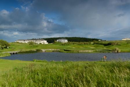 Vue  sur le parcourse de Galway Bay