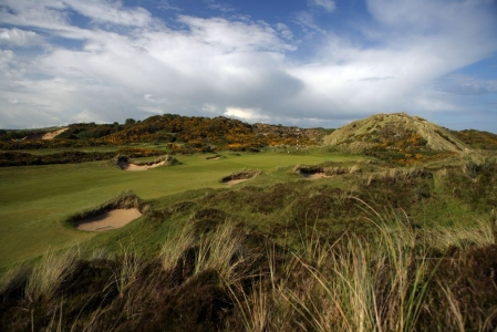 Rough et green sur le parcours du Royal County Down