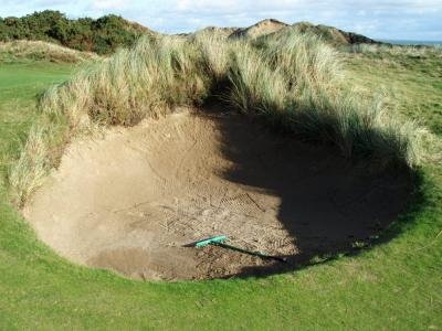 Bunker sur le parcours de Royal County Down