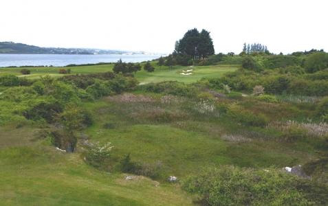 Trou sur le parcours de golf de Cork en Irlande