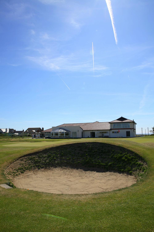 Bunker sur le parcours de Kirkistown Castle