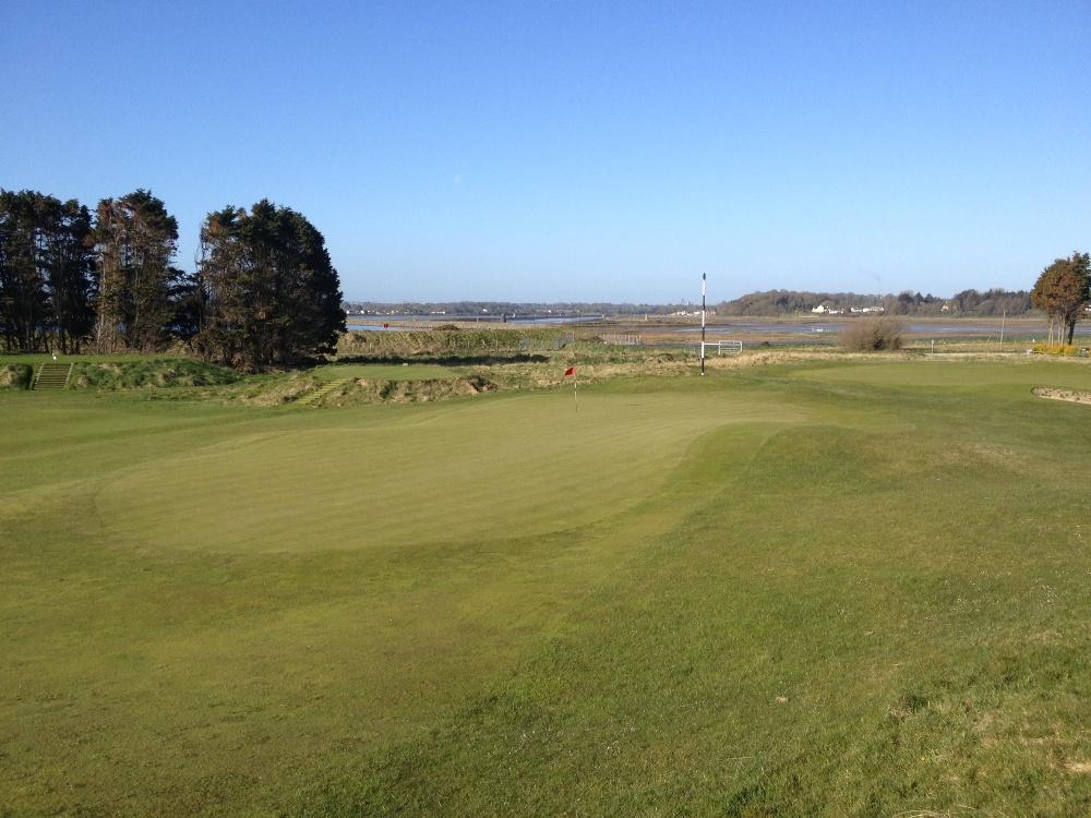 Large green sur le parcours de County Louth